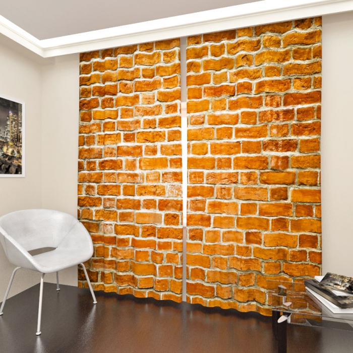 Фотошторы «Кирпичная стена»