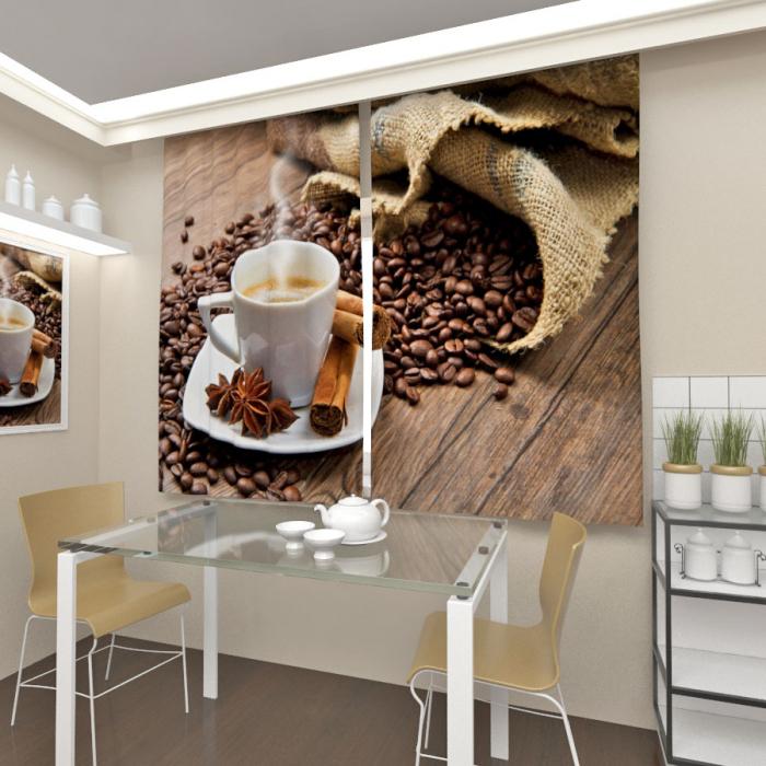 Фотошторы «Кофе с корицей»