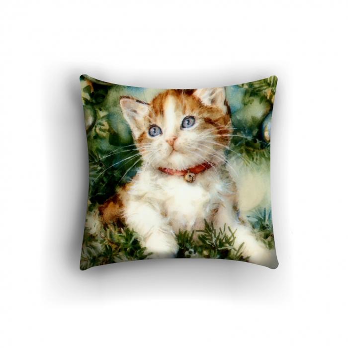 Фотоподушки «Котенок у елки»