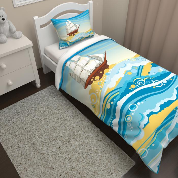 Постельное белье «КПБ Корабль на волнах»