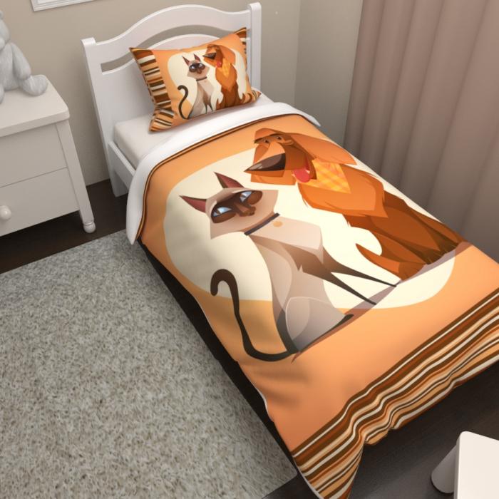 Постельное белье «КПБ Кот и пес»