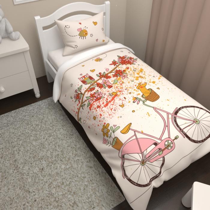Постельное белье «КПБ Розовый велосипед»