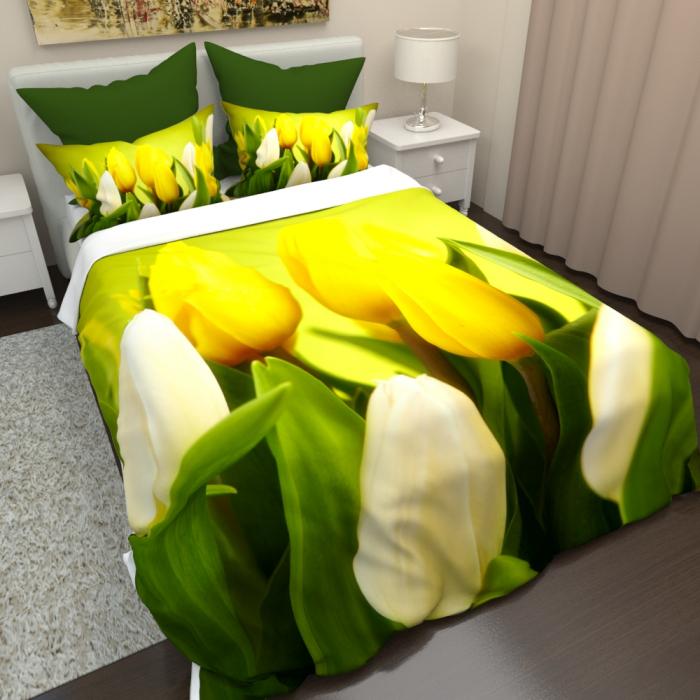 Постельное белье «КПБ Тюльпаны 4»