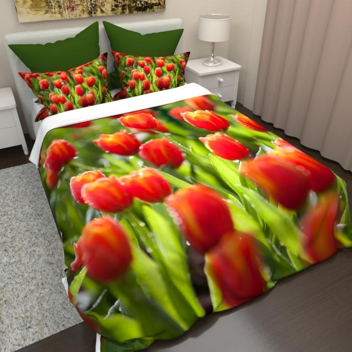 Постельное белье «КПБ Тюльпаны 5»