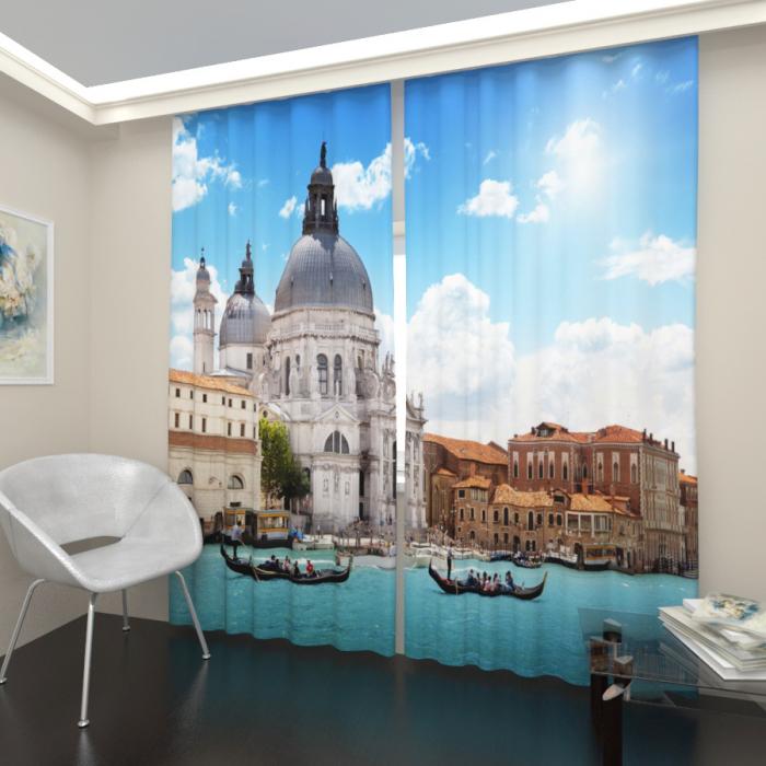 Фотошторы «Лазурная Венеция»