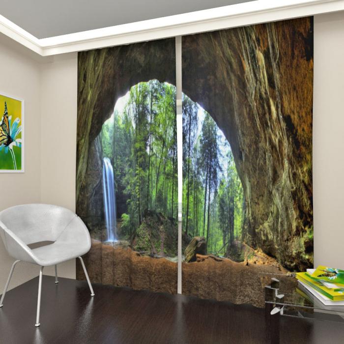 Фотошторы «Лесной водопад»