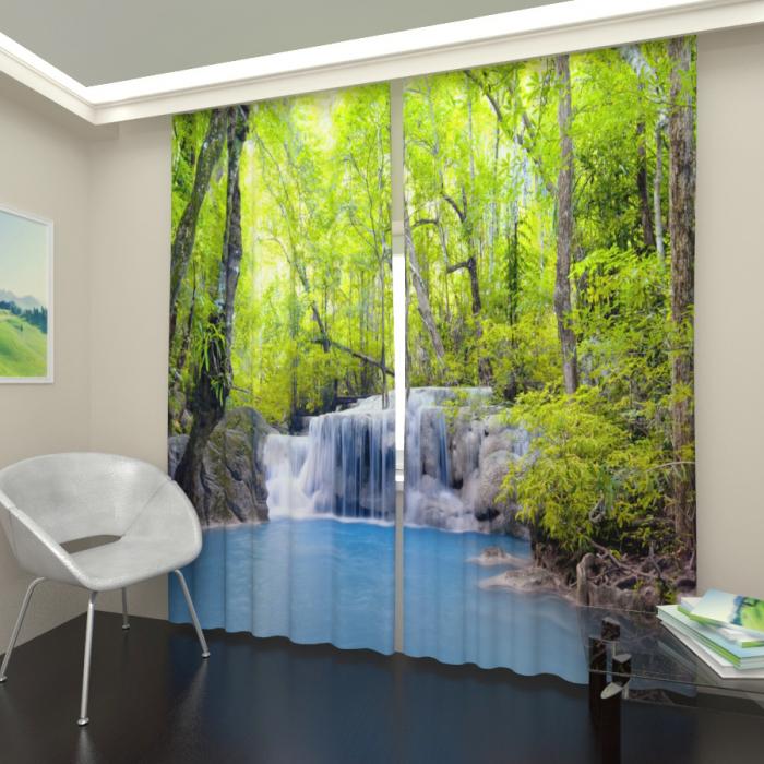 Фотошторы «Лесной водопад 2»