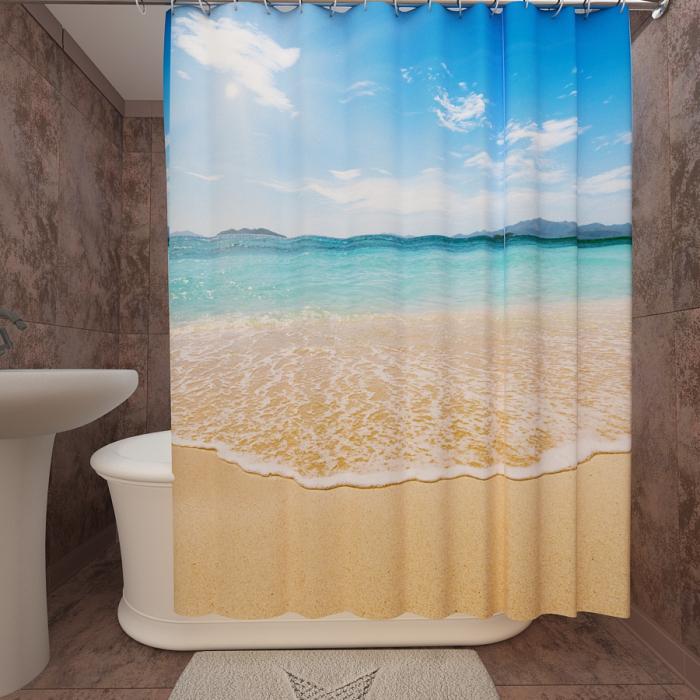 Фотошторы для ванной «Мальдивы»