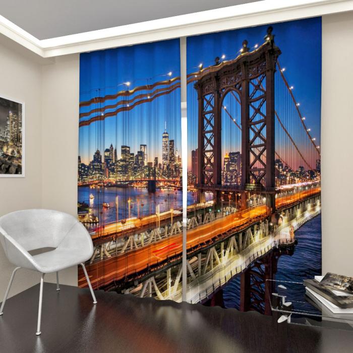 Фотошторы «Мост в Манхэттене»