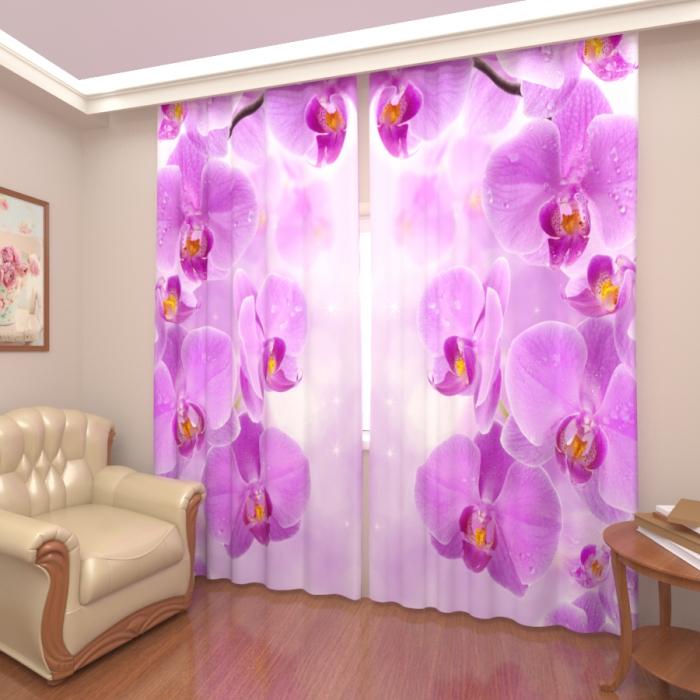 Фотошторы «Нежные орхидеи»