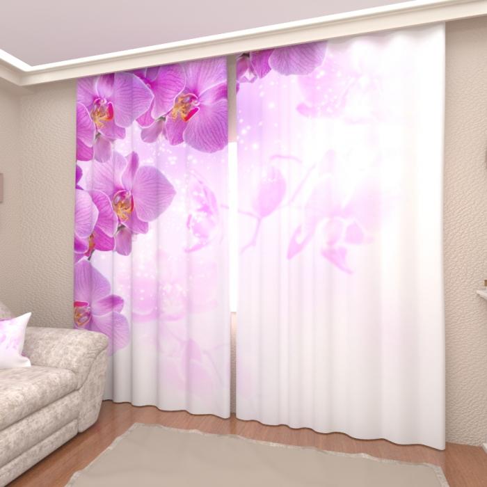 Фотошторы «Нежные орхидеи 2»