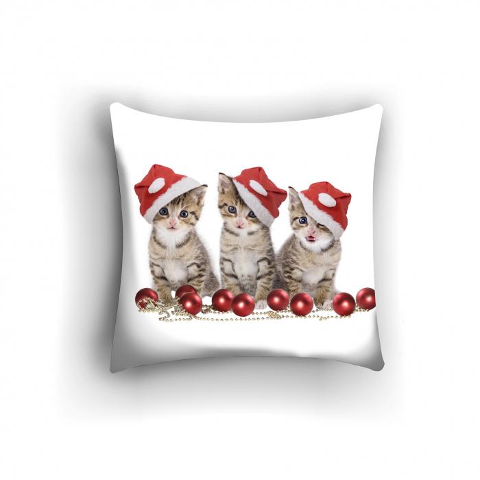 Фотоподушки «Новогодние котята»