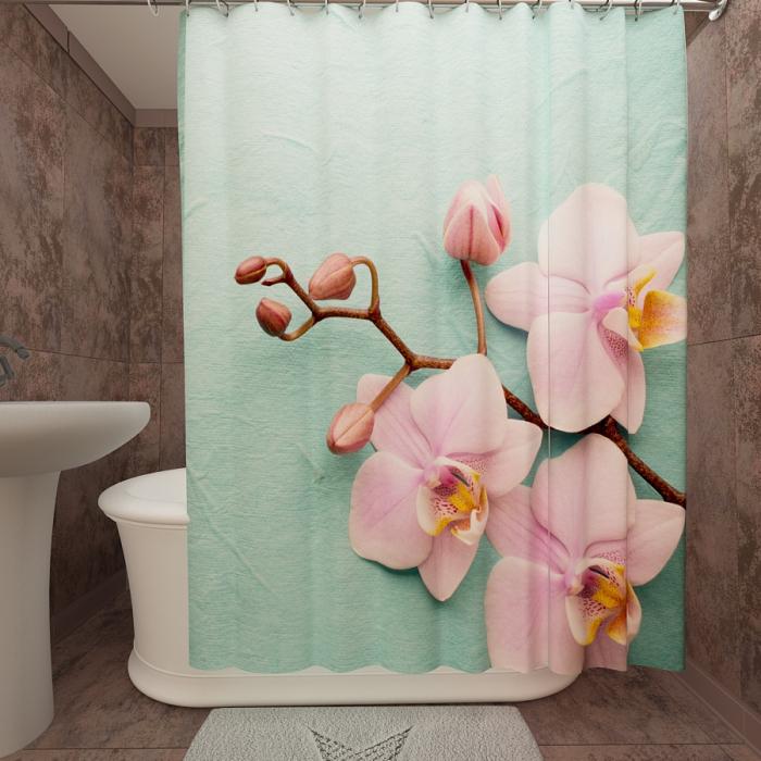 Фотошторы для ванной «Орхидея 2»