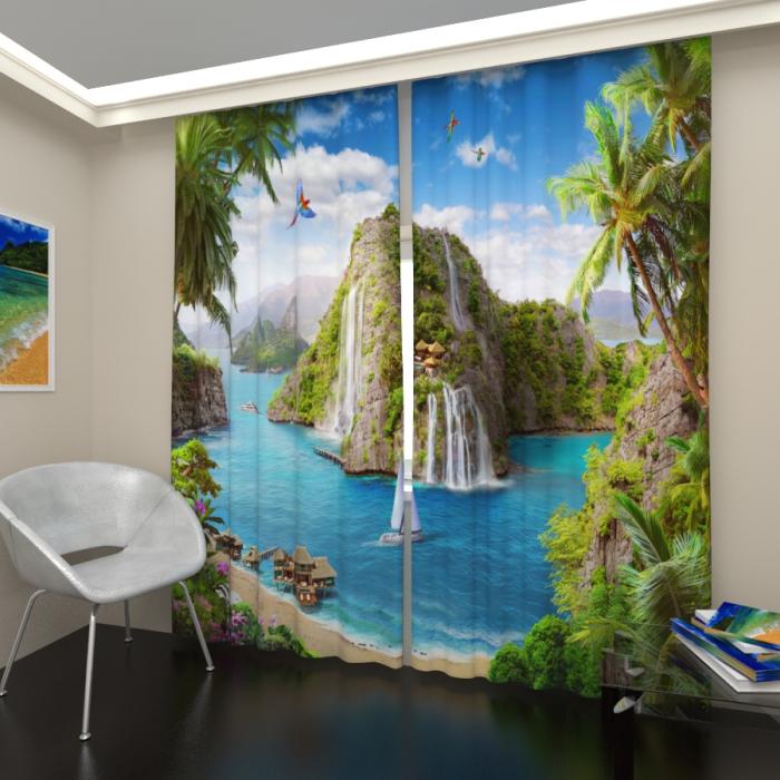Фотошторы «Остров в тропиках»
