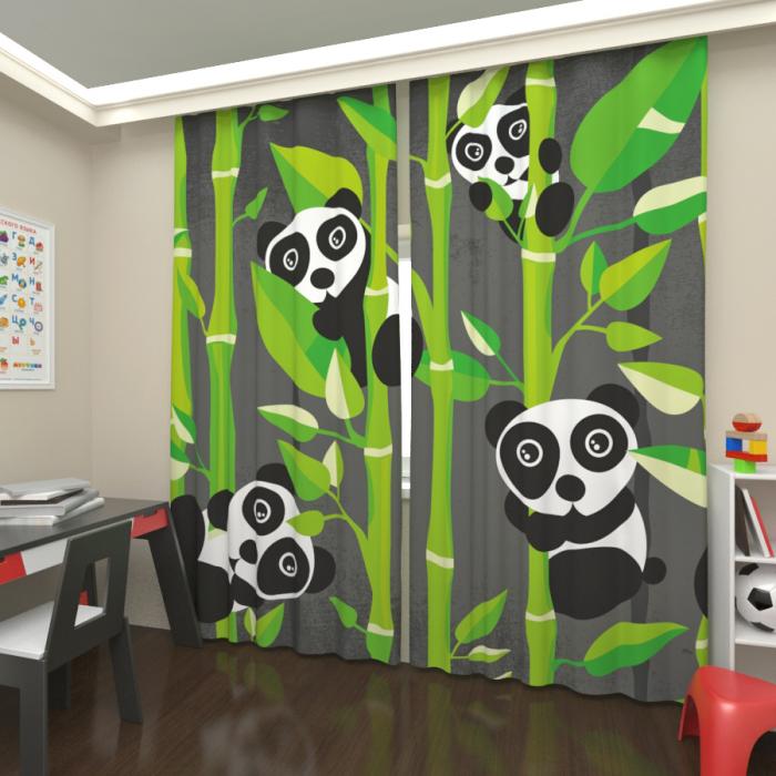 Большая распродажа «Панды в бамбуке, Сатен»