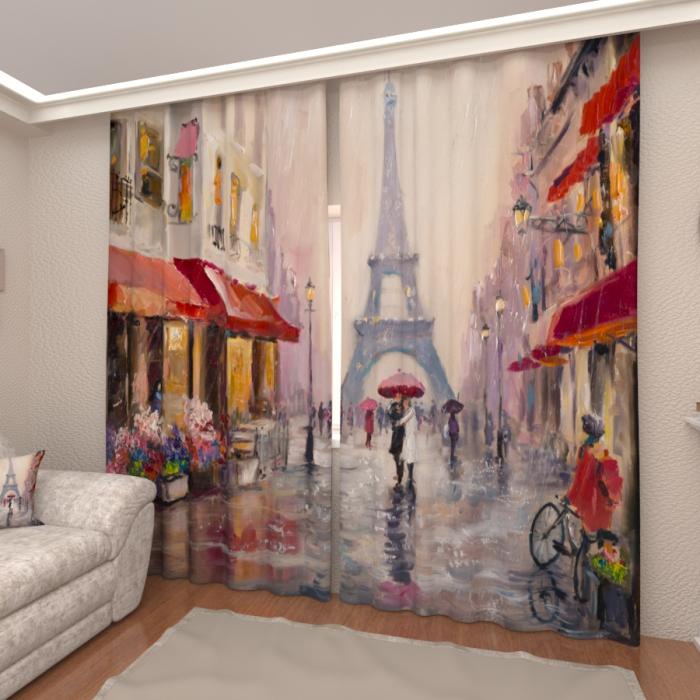 Фотошторы «Париж под дождем»