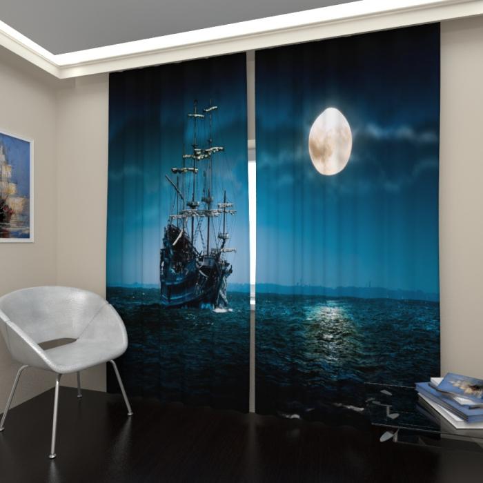 Фотошторы «Пиратский корабль»