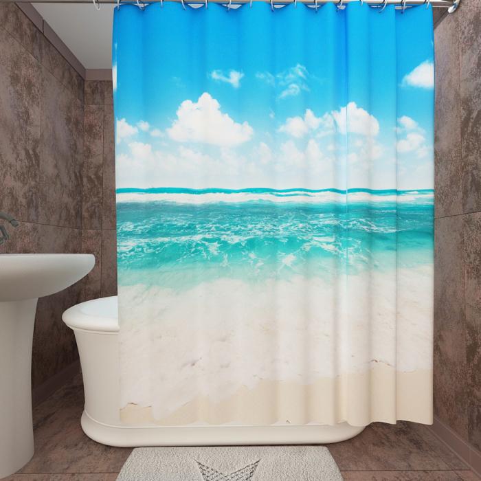 Фотошторы для ванной «Прибой»