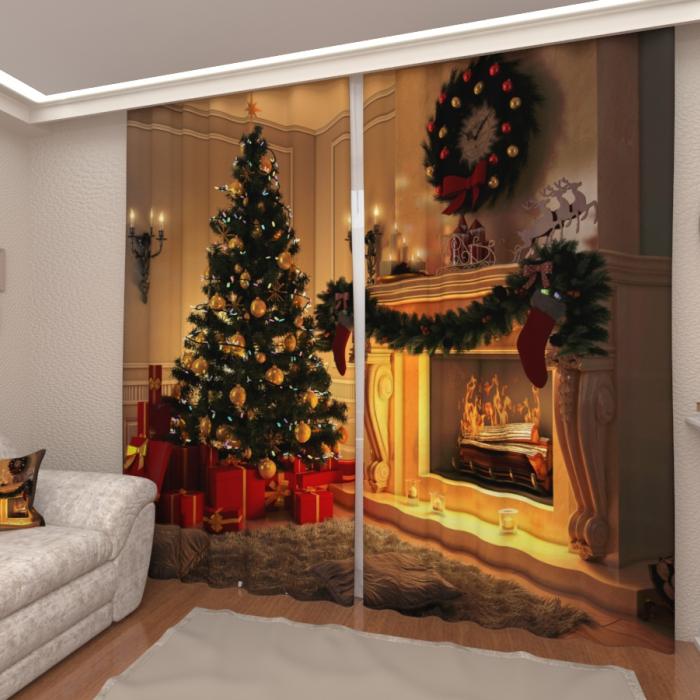 Фотошторы «Рождественская ночь»