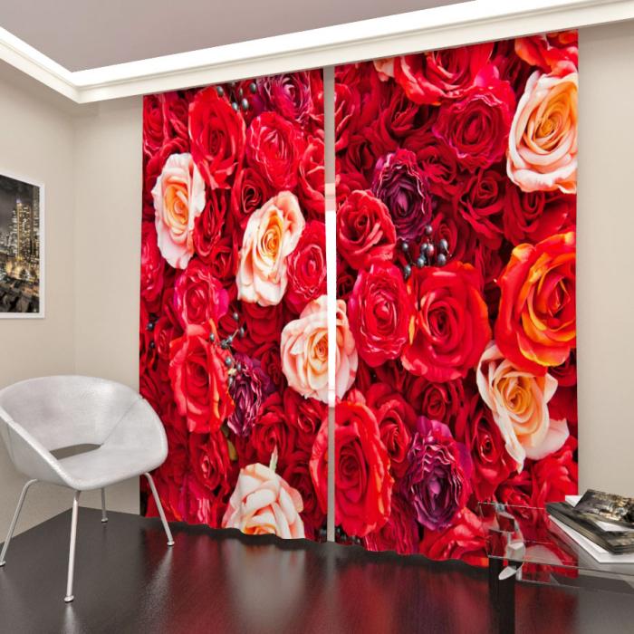 Фотошторы «Розы красные»