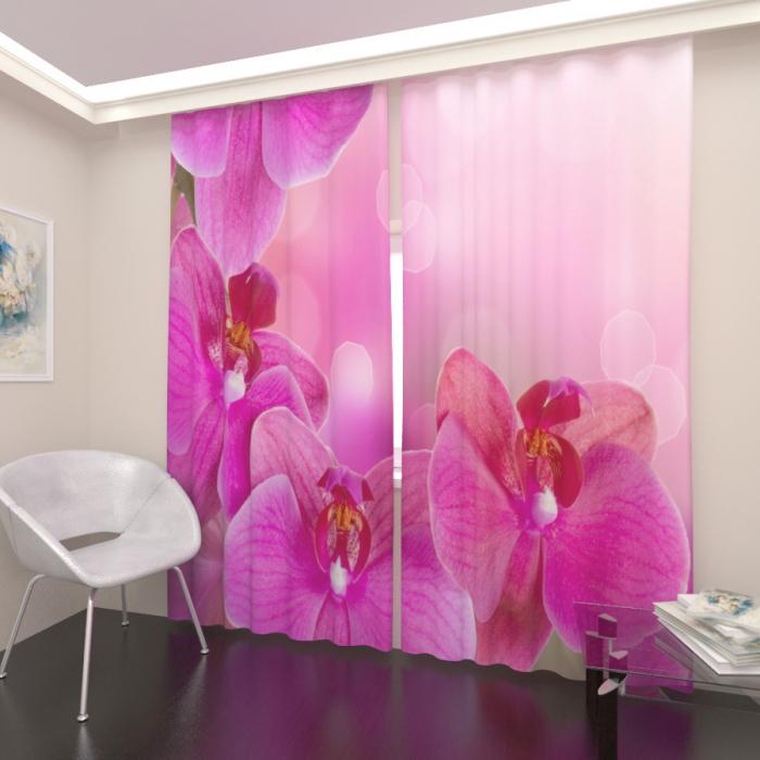Фотошторы «Розовая орхидея»