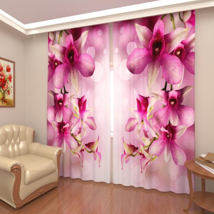 Фотошторы «Розовые орхидеи 2»