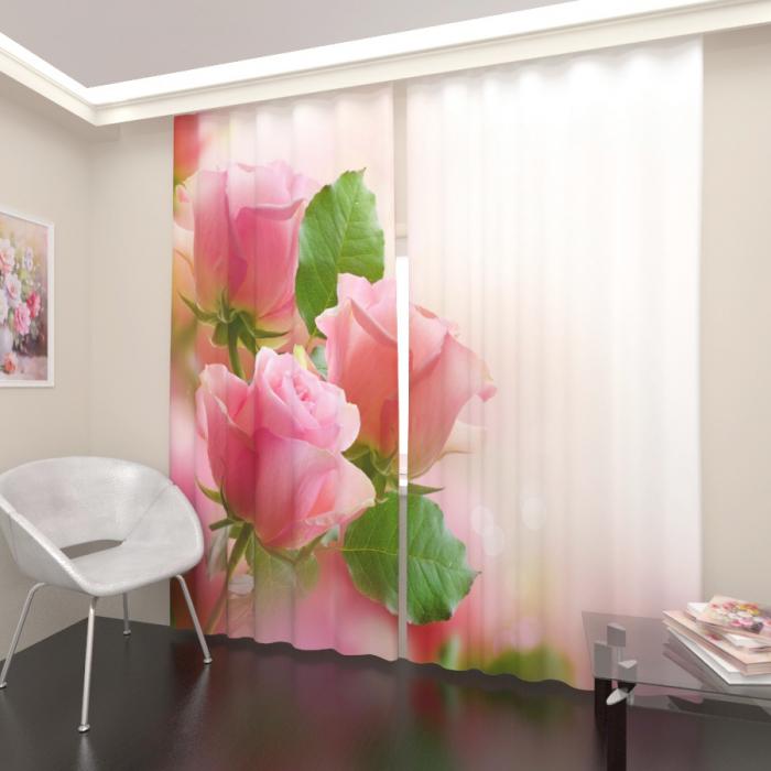 Фотошторы «Розовые розы»