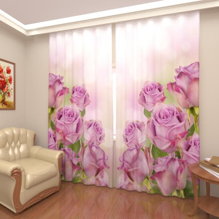 Фотошторы «Розовые розы 2»
