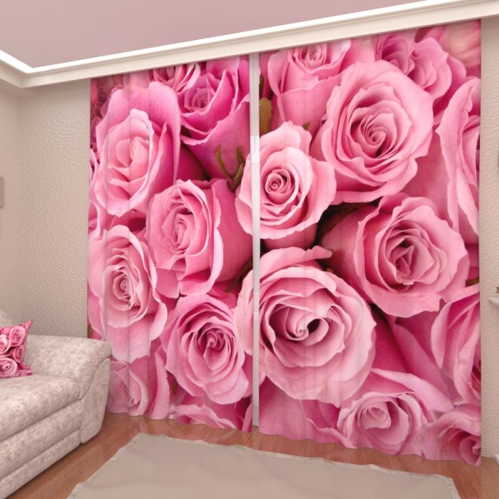 Фотошторы «Розовые розы 3»