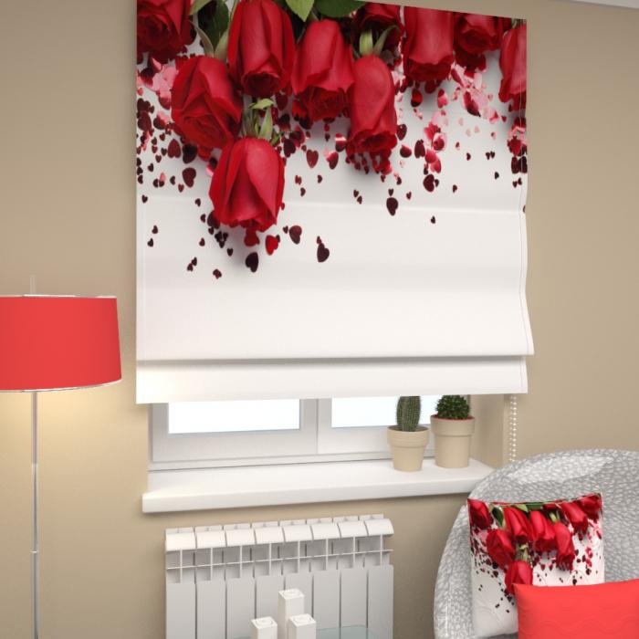 Римские фотошторы «Р Розы в подарок»