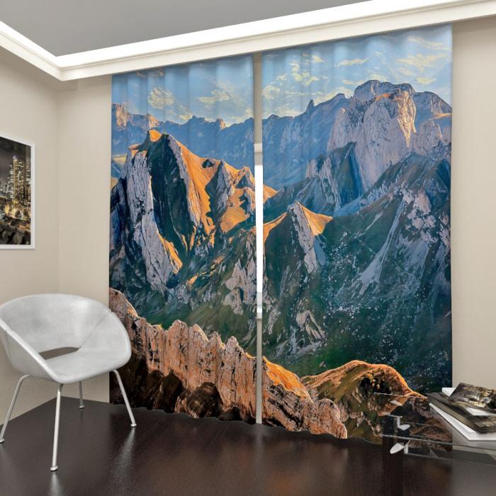 Фотошторы «Швейцарские альпы»