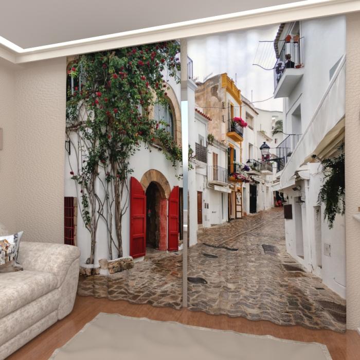 Фотошторы «Сицилийская улочка»