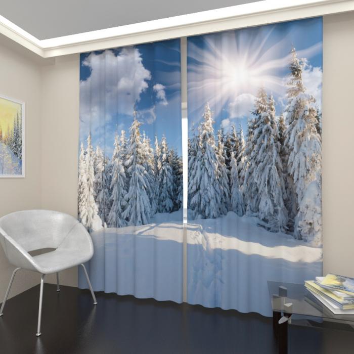 Фотошторы «Снежный лес 2»