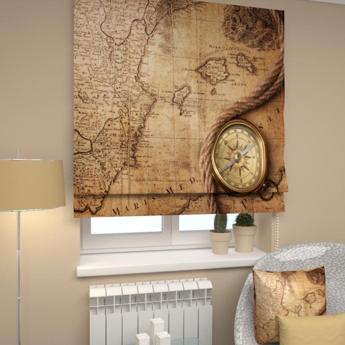Римские фотошторы «Р Старая карта»