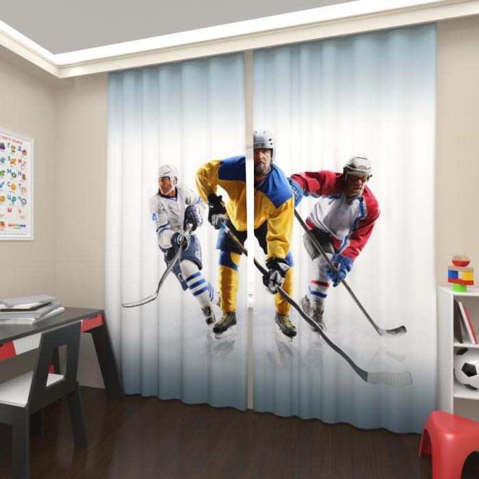 Фотошторы «Три хоккеиста»