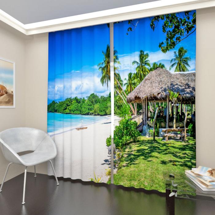 Фотошторы «Тропический пляж 2»