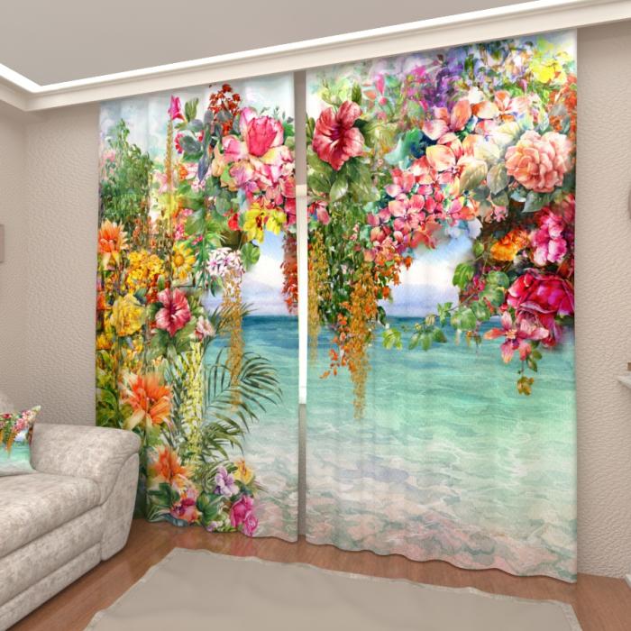 Фотошторы «Тропическое многоцветие»