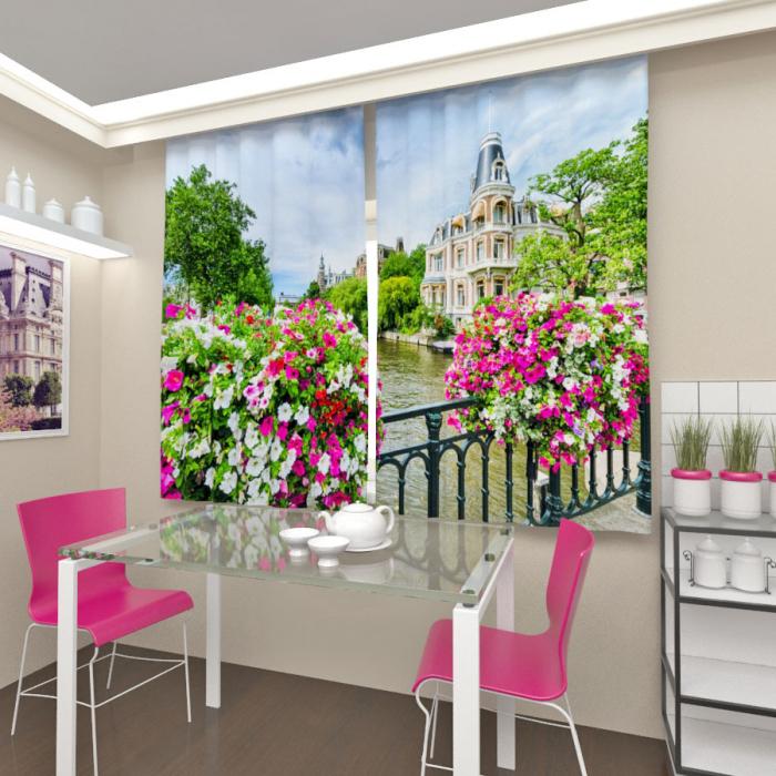 Фотошторы «Цветы Амстердама»