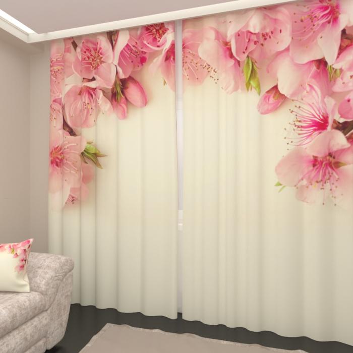 Фотошторы «Цветки дикой вишни 2»