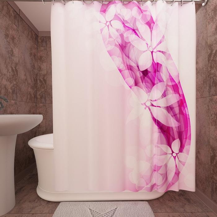 Фотошторы для ванной «Цветочная фантазия»