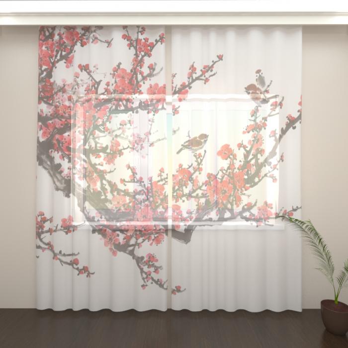 Фототюль «Цветущая сакура 7»