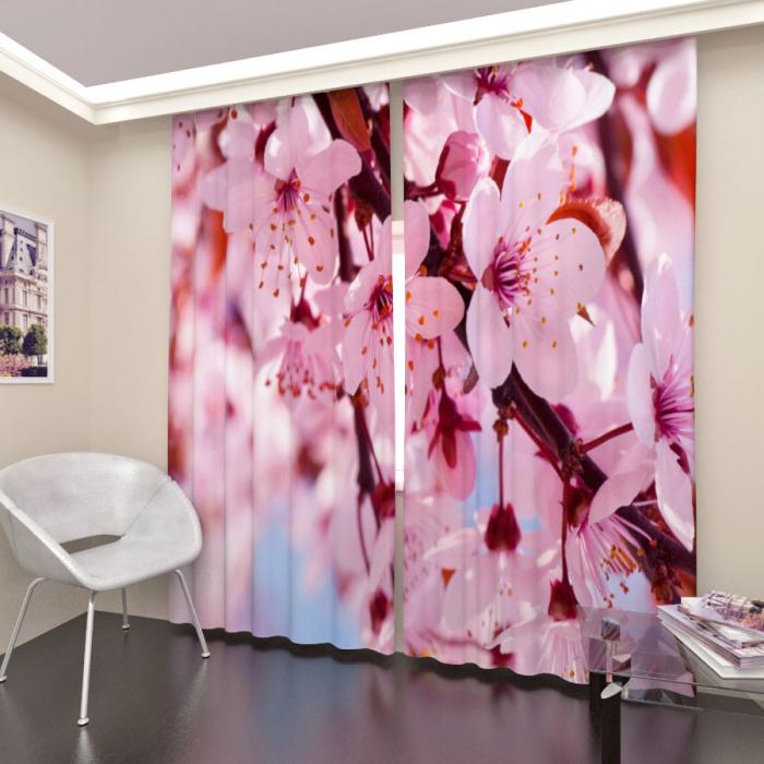 Фотошторы «Цветущая сакура 1»