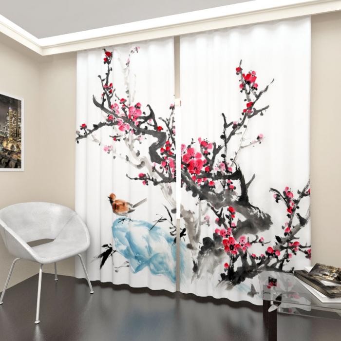 Фотошторы «Цветущая сакура 5»