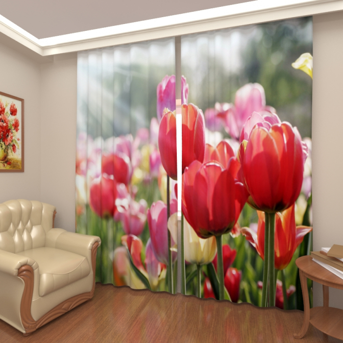 Фотошторы «Тюльпаны 7»
