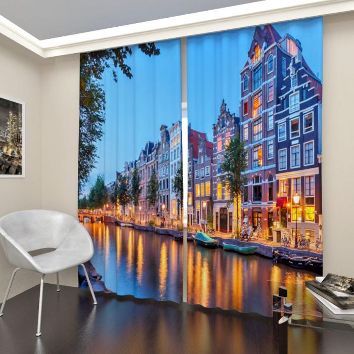 Фотошторы «Вечерний Амстердам»