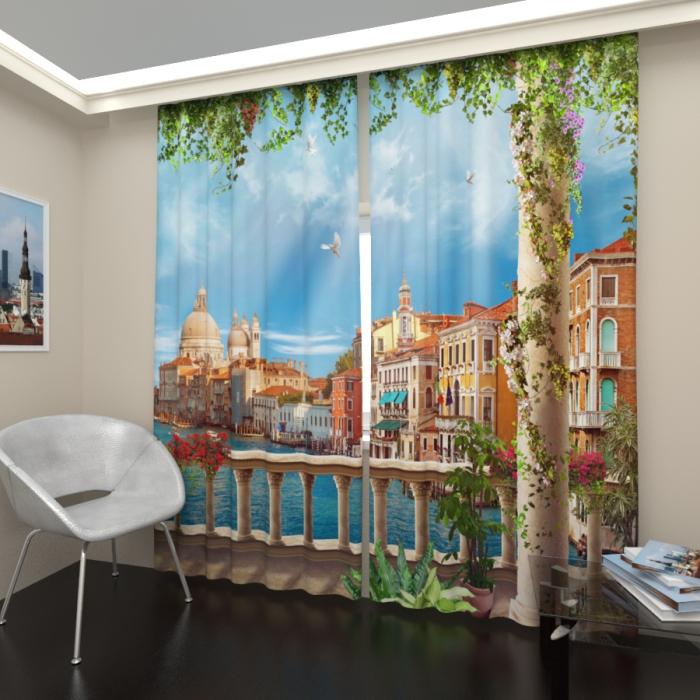 Фотошторы «Венецианский балкон»
