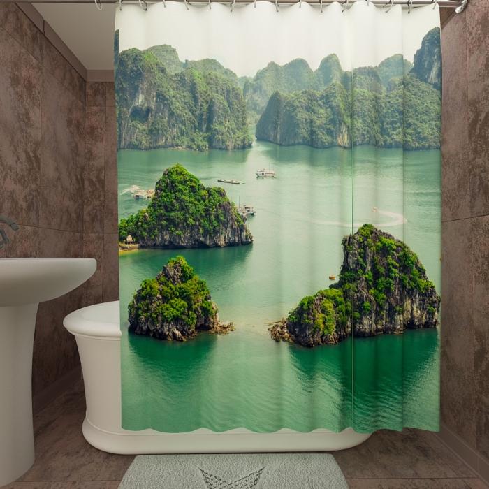 Фотошторы для ванной «Вьетнам»