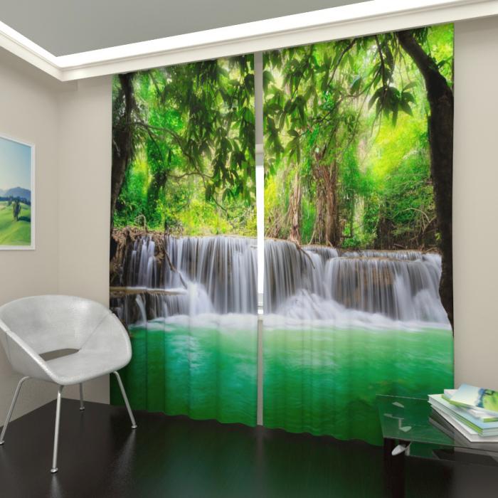 Фотошторы «Водопад в тропиках 2»