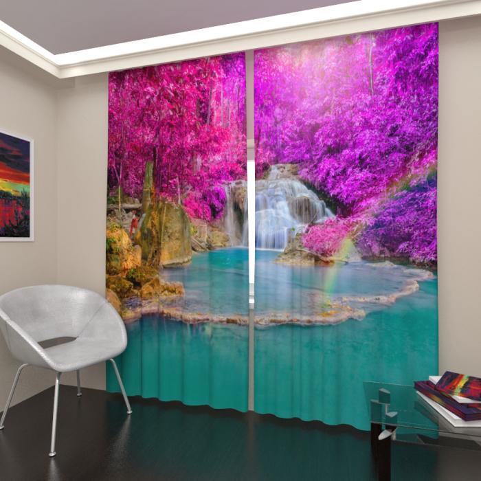 Фотошторы «Водопад в тропиках 3»