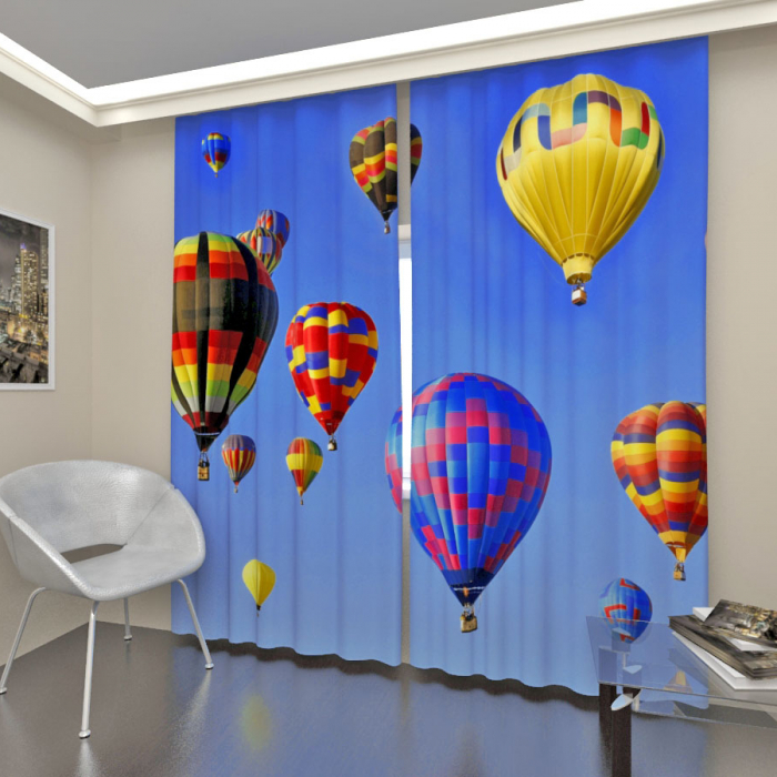 Фотошторы «Воздушные шары в небе»